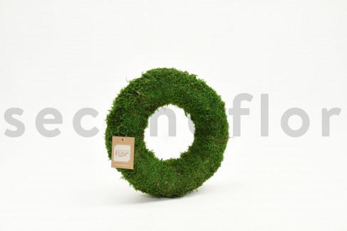 Couronne de Mousse plate stabilisée - 30 x 7 cm