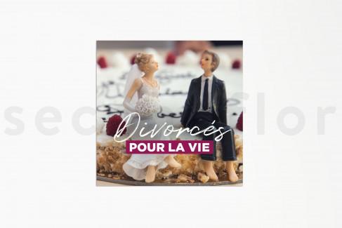 Grußkarten «Divorcés pour la vie» - 10 Stück