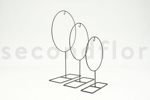 Estructura Metálica Redonda Sobre Soporte S 1 Unidad Negro