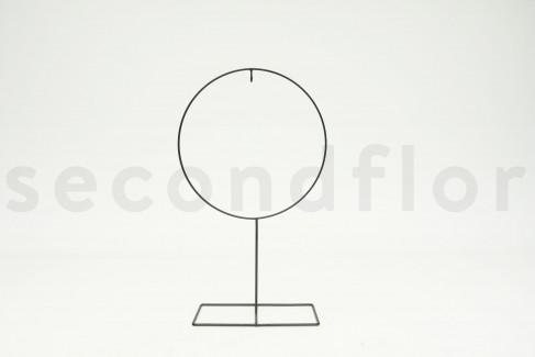 Estructura Metálica Redonda Sobre Soporte L 1 Unidad Negro