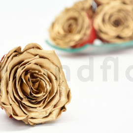 Preserved rose RoseAmor L+ - Box of 6 - Red and gold