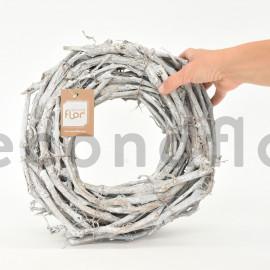 Couronne de vigne - 30x5 cm - Blanchi