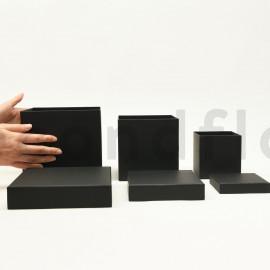 Boites carrées - Set de 3 - Noir