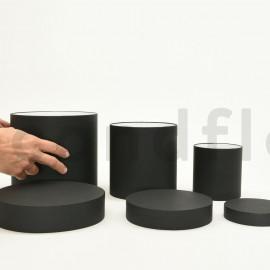Boites rondes - Set de 3 - Noir