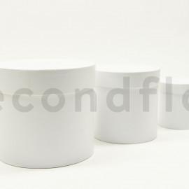 Boites rondes - Set de 3 - Blanc