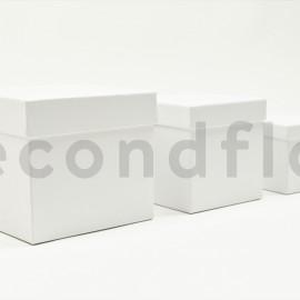 Boites carrées - Set de 3 - Blanc