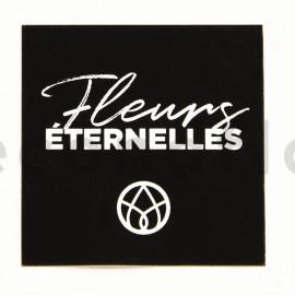 Stickers carré «Fleurs Éternelles» - 1 rouleau de 100 - Noir